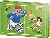 Schmidt Spiele 55545 - Puzzle de 60 piezas en caja de metal, diseño de Benjamin, el elefante