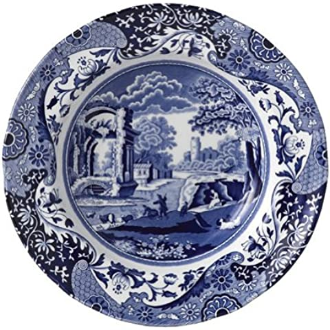 Spode Blue Italian Rim Soup Bowls by Spode