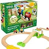 BRIO World 33727 Mein erstes BRIO Bahn Spiel Set - Zug mit Waggon, Schienen & Hängebrücke für Kleinkinder - Buntes BRIO Einsteiger-Set empfohlen ab 18 Monaten