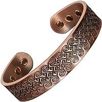 Herren-Armband aus reinem Kupfer, magnetisch, zur Schmerzlinderung bei Arthritis, Heilung, Magnettherapie, in... preisvergleich bei billige-tabletten.eu