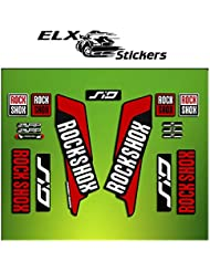 "Pegatinas HORQUILLA ROCK SHOX SID 2016 ELX37 STICKERS AUFKLEBER AUTOCOLLANT DECALS BICICLETA CYCLE MTB BIKE 29"" (ROJO/ RED)"
