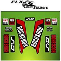 "Pegatinas HORQUILLA ROCK SHOX SID 2016 ELX37 STICKERS AUFKLEBER AUTOCOLLANT DECALS BICICLETA CYCLE MTB BIKE 26"" y 27.5"" (ROJO/ RED)"
