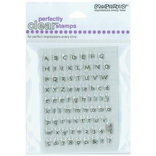 Unbekannt Stampendous Gummi perfekt Clear Stamps 3Zoll x 4-Zoll Sheet-Tiny Alphabet