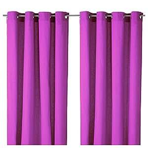 Ikea ullabritt lot de 2 rideaux de voilage gardinenschals rideaux à oeillets occultant (violet)