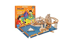 Smartvity Roller Coaster Marble Slide for 8+ Years Boys and Girls, STEM, Learning, Educational and Construction Activity Toy Gift (Multi-Color)