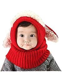 TININNA Chapeau Bonnet Echarpe Gant Tricot Enfant Hiver Laine Chaud Enfant  Bébé Casquettes BéBés Fille Garçon Chapeau Crochet Tour de… d4e25822150