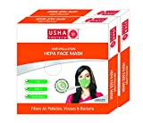 #9: Usha Shriram Anti Pollution HEPA Face Mask (Pack of 2) Air Mask for Adult