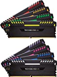 Corsair Vengeance RGB - Kit de Mémorie Enthousiaste (64Go (8x8Go), DDR4, 2666MHz, C16, XMP 2.0) - Noir
