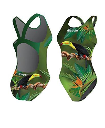 diapolo Tucan Bañador de la colección Wild Animals para nadar natación sincronizada Agua Ball thriathlon, large