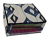 Indi Bargain Blue Synthetic Three Layered Wedding Multi Saree Cover