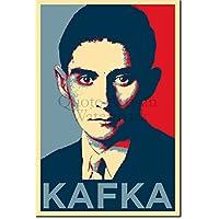 Franz Kafka Kunstdruck (Obama Hope Parodie) Hochglanz Foto Poster - Maße: 91 x 61 cm