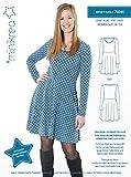 MAGAM-Stoffe ''Jersey-Kleid'' Schnittmuster für Frauen | Größe 34 bis 50 | inkl. Aufnäher ''Enno'' | 7x0045
