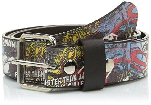 DC COMICS - Cintura con stampa, motivo: Superman, 96 cm, XL