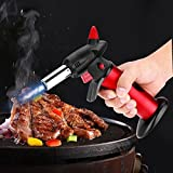 Toolsmart Creme Brulee Refillable Professional Kitchen Blow Torch with Safety Lock and Adjustable Flame