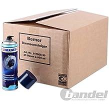 1 Karton Berner Bremsenreiniger 30x Dosen 147959 Entfetter 500ml Sprühdose Reiniger
