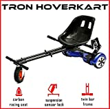 """The Official TRON Carbon Black Monster Suspension Springs Hoverkart with Monster Wheel - Fits All Hoverboard Swegways - 6.5"""", 8"""", 10"""""""