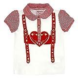BONDI Poloshirt ´Hosenträger´, Weiss 104 Tracht Baby Mädchen Artikel-Nr.85800