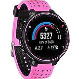 JiaMeng para Garmin Forerunner 735XT Watch2,Banda de Reloj de Repuesto de Correa de Silicona Suave(Rosa Caliente)