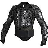 linsone todos los Negro Unisex cuerpo armadura motocross motos montaña ciclismo patinaje snowboard Spine pecho costillas codo protector guardia Bionic alta visibilidad chalecos y chaquetas de/ropa de protección, All Black, large