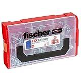Fischer 536162 FIXtainer - Die DUOPOWER-Dübel-Schrauben-Box, Universaldübel Schrauben Set, 210 Teile