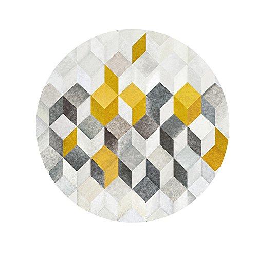 Creative Light Dreidimensionale Moderne runde Teppiche Pastoralen einfachen Wohnzimmer Schlafzimmer 3D Rutschfeste verschleißfeste Teppiche Korb Drehstuhlmatten (Teppich-korb)