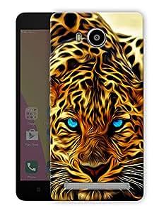 "Humor Gang leopard face Printed Designer Mobile Back Cover For ""Lenovo A7700"" (3D, Matte Finish, Premium Quality, Protective Snap On Slim Hard Phone Case, Multi Color)"