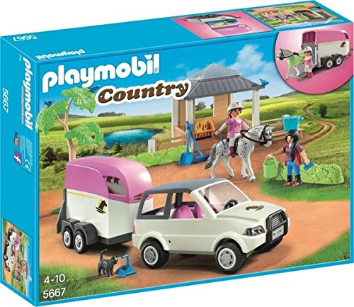 Playmobil 5667.0�Stable with Horse Trailer Toy