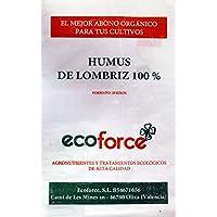 cultivers by ecoforce Humus DE LOMBRIZ Puro 100% ECOLÓGICO 20Kg 40Litros Especial para Plantas Y Jardin