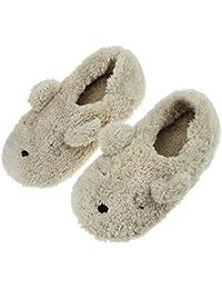 Cotton Pantoufle Motif de Lapin Chausson Chaussure Peluche Pantoufles d'intérieur Pour Enfant 38 Gris WalWC50