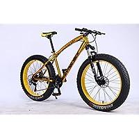 MYTNN fatbike 26Pulgadas 21velocidades Shimano Fat Tyre Mountain Bike Oro 47cm RH Snow Bike Fat Bike