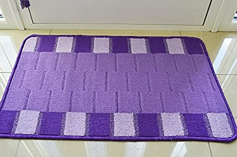 NEW COLORFUL MODERN WASHABLE NON SLIP KITCHEN UTILITY HALL LONG RUNNER DOOR MAT RUG * 5 SIZES,, 8 COLORS* (50 X 80 CMS, PURPLE / LILAC