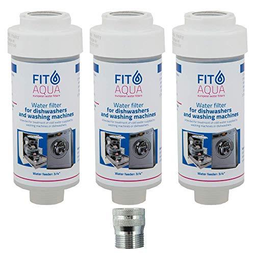 Fit aqua AC-WSM AM-SET-III 3 x Kalkfilter Spülmaschi ne Geschirrsp üler Waschmasch ine, 3 Stück -