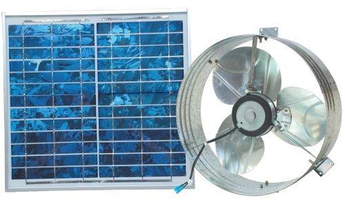 Ventamatic VX2515SOLUPS Solar Gable Attic Ventilator with 12.6-watt 18-volt DC motor and 12.6-watt panel