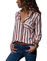 c647581f74 Amazon.it: Maglie In Pizzo - Rosso / Bluse e camicie / T-shirt, top ...