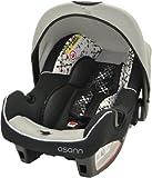 Osann Babyschale Babytrage Kinderautositz BeONE SP Corail Black schwarz, 0 bis 13 kg, ECE Gruppe 0 +, von Geburt bis ca. 15 Monate, mit Verdeck