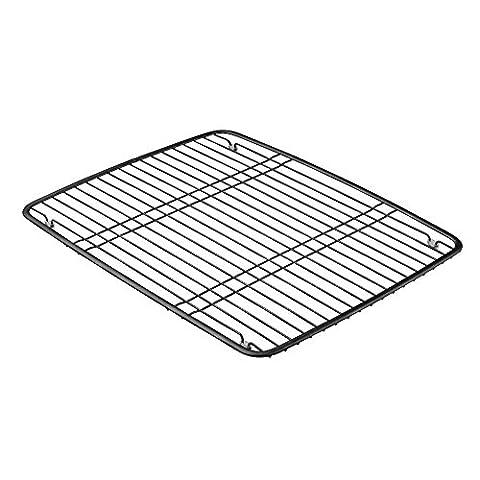 InterDesign Axis Kitchen Sink Protector Grid Mat - Large, Matte Black