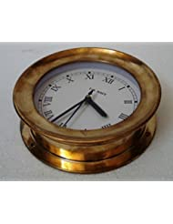 U.S. Navy Marine BRASS Wall Clock - Roman Style – LARGE - Marine / Nautical / Boat / Maritime
