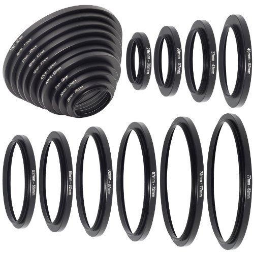 Metallring-Adapter zur Objektiv-Verlängerung (26/30/37/43/52/55/62/67/72/77/82mm) - Filterset für DC160 55 Mm-adapter-ring