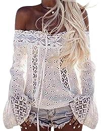 Reasoncool La signora senza bretelle di modo camicia a maniche lunghe incantevole spiaggia