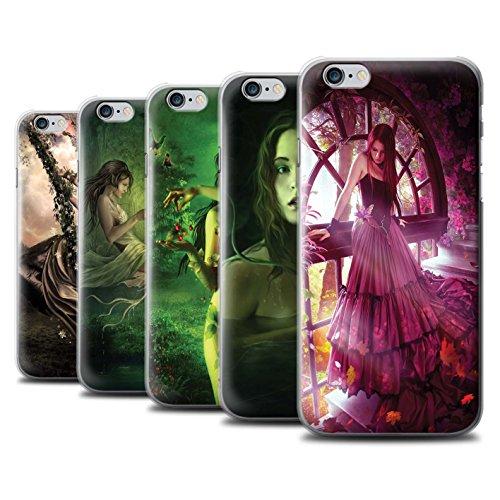 Officiel Elena Dudina Coque / Etui pour Apple iPhone 6 / Balançoire Jardin Design / Un avec la Nature Collection Pack 15pcs