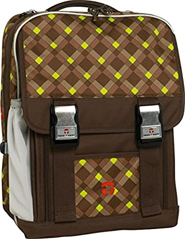 Take It Easy Schulrucksack LONDON Everglade 494060 braun