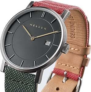 meller minimalistische unisex armbanduhr mit grauer analog anzeige und lederband uhren. Black Bedroom Furniture Sets. Home Design Ideas