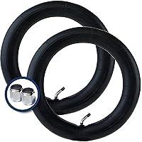 2 x Schlauchen für KNORR-BABY Kombikinderwagen - 12 Zoll Schlauch - 45 Grad Ventil - Kinderwagen/Buggy/3-Räder + Kostenlose metall ventilkappen wert 3,95!