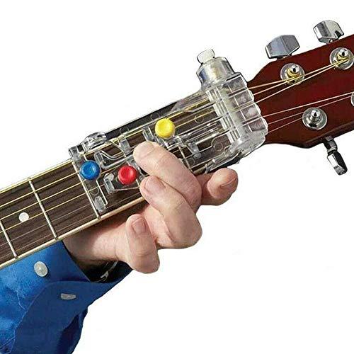 Aiuto didattico per chitarra per chitarre elettriche trainer chitarra digitale, mini chitarra portatile, allenamento chitarra, trainer chord a 6 tasti, strumento per pratica per principianti per memo