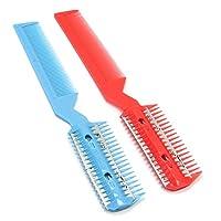 Pinzhi®2 Pcs DIY Professional Scissor Hair Razor Comb Hairdressing Thinning Trimmer