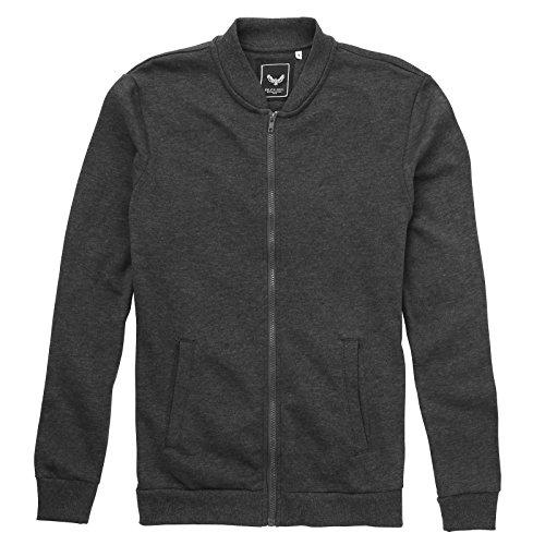 Brave Soul Herren Modern Sweatshirt Gr. L, Charcoal Marl (Brown Wool Pullover Crewneck)