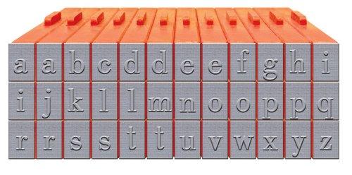 Mason Zeile xl-5800736Kleinbuchstaben Alphabet klickbares Bodoni (Schriftart) Schriftart Stempel Set