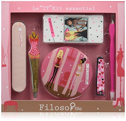 Filosofille Kit Essentiel Set Accessoire Beauté 6 Pièces Motif Cœurs In Love