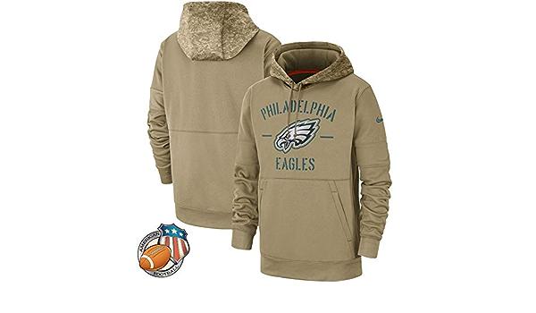 Philadelphia Eagles Camouflage American Rugby Team Sweater Football Fan Ball Jersey Army Green-S Mens Hoodie Sweatshirt