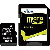 Nouvelle Vida IT 8Go Carte mémoire Micro SDHC pour Nokia - E73 Mode - E75 - E90 - Lumia 520 Téléphone mobile - Tablette PC - Garantie à vie
